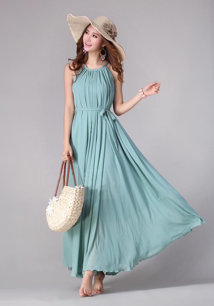Sundress Boho Long Maxi Dress Holiday Beach Dress Plus Size