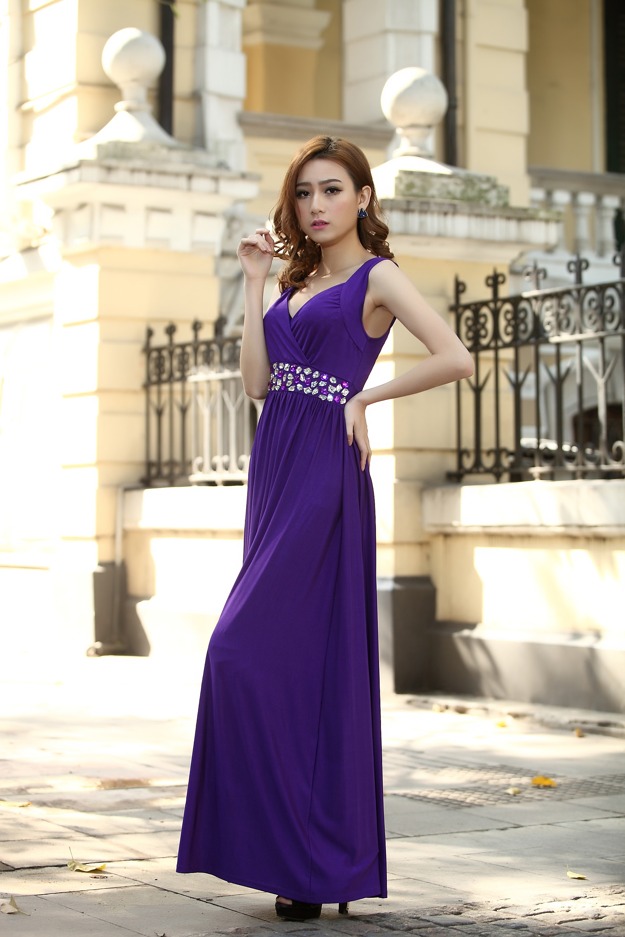 Cadbury Purple Bridesmaid Dress Formal Cocktail Bead Prom Party ...