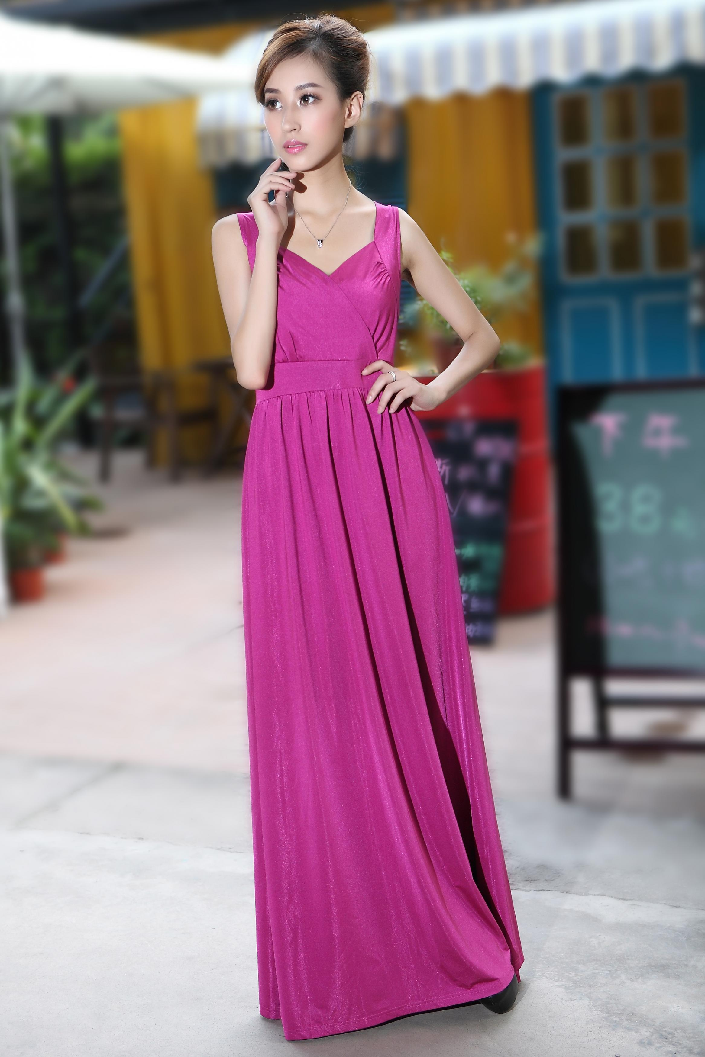 2f7202137f Rose Pink Long Prom Dress Wedding Bridesmaid Dresses Evening Party Formal  Gowns Holiday Dresses Cock on Luulla