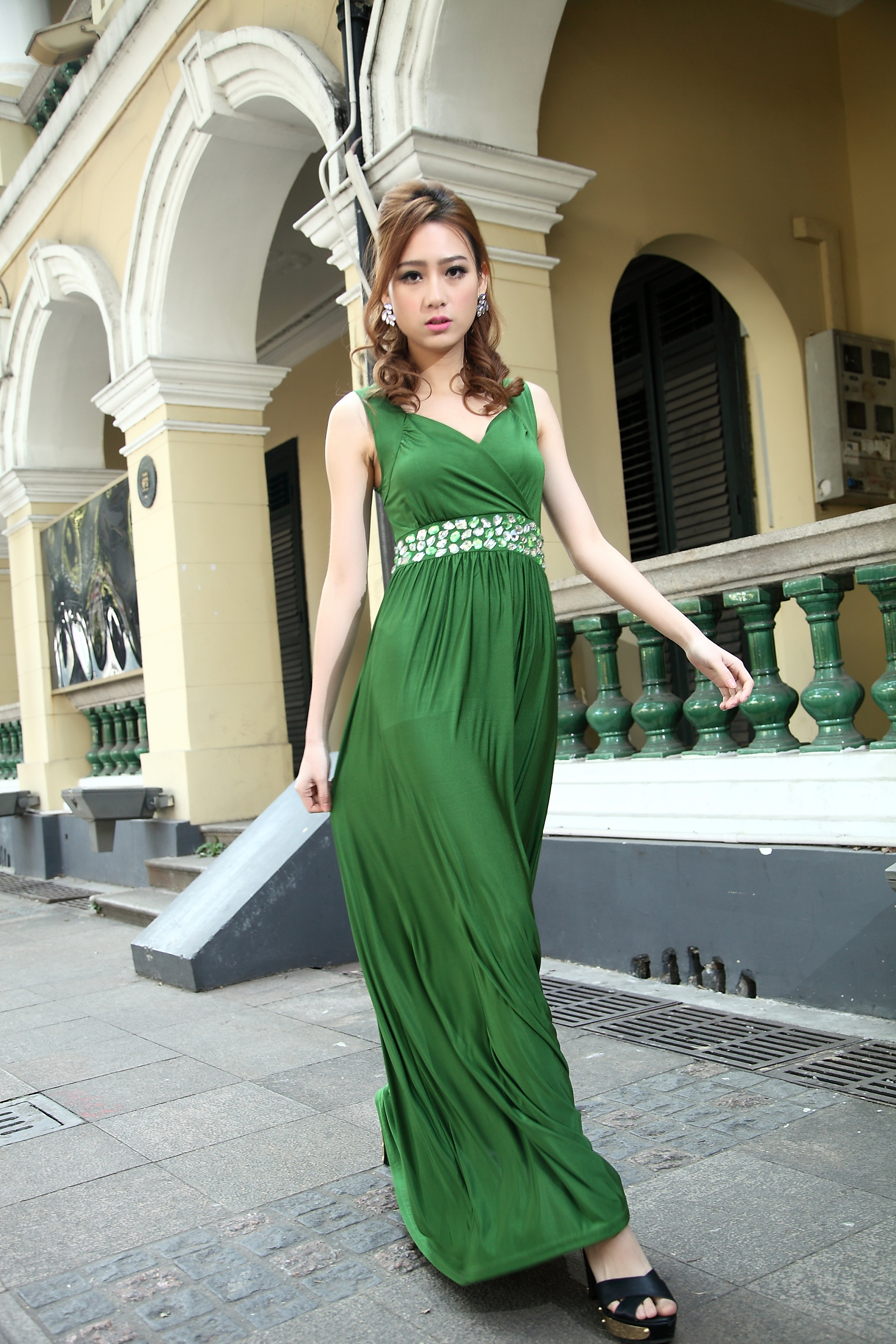 ace12314c93 Emerald Green Bridesmaid Dress Formal Cocktail Bead Prom Party Evening Maxi  Dress Plus Sizes Evening on Luulla